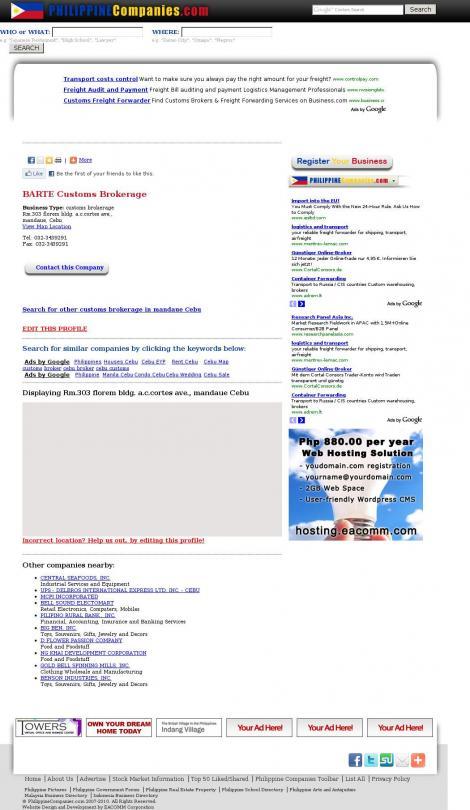 List of customs brokerage in the philippines