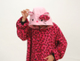Hello Kitty Red leopard adult onesies