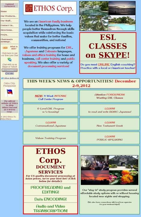 Ethos Corp  (Language Study Center) • Busay • Cebu • ethos ph