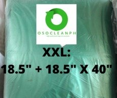 "XXL Biodegradable Green Trash Bag (18.5"" + 18.5"" x 40"")"