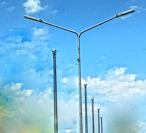 Lamp Post Steel Pole Philippines Manufacturing
