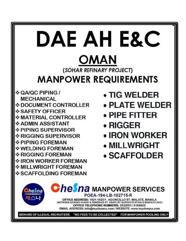 Chesna Manpower Services • Malate • Metro Manila • mychesna com
