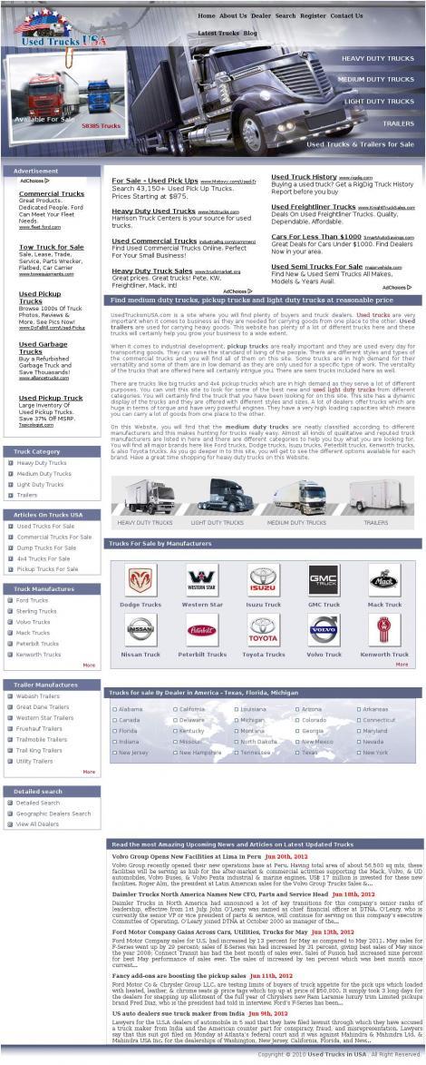 Used Trucks In USA