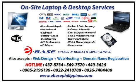 On-site Desktop & Laptop Repair - Ebase Philippines