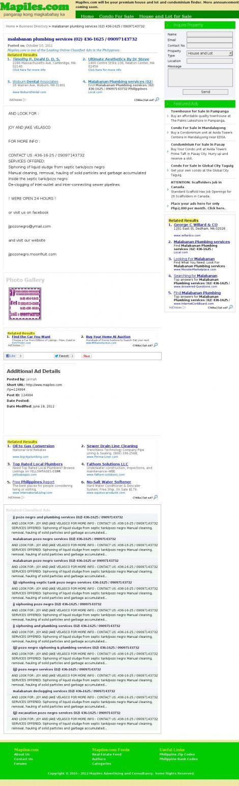 malabanan services (02) 436-1625 / 404-0243