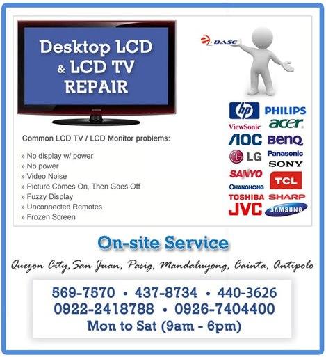 LCD TV & Monitor Repair - Ebase Philippines