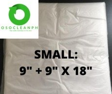 """Small Biodegradable Clear Trash Bag (9""""+ 9""""x 18"""")"""