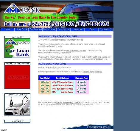 AMA BANK Car Loan