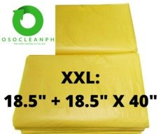 "XXL Biodegradable Yellow Trash Bag (18.5"" + 18.5"" x 40"")"