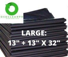 """Large Biodegradable Black Trash Bag (13"""" + 13"""" x 32"""")"""