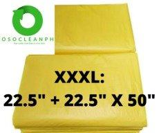 "XXXL Biodegradable Yellow Trash Bag (22.5"" + 22.5"" x 45"")"