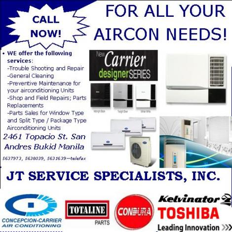 AIRCON SERVICE and MAINTENANCE