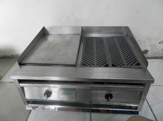 Lava Rock Griller and Griddle Combination