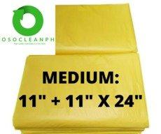 "Medium Biodegradable Yellow Trash Bag (11"" + 11"" x 24"")"