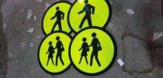 road signages, plaque marker, guardrail, road stud