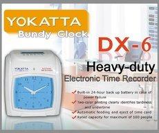 YOKATTA DX-6 BUNDY CLOCK TIME RECORDER
