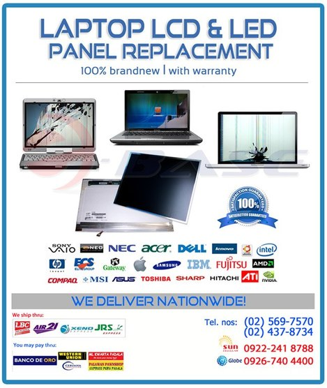 Laptop LCD Replacement - Ebase Philippines