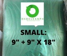 """Small Biodegradable Green Trash Bag (9""""+ 9""""x 18"""")"""