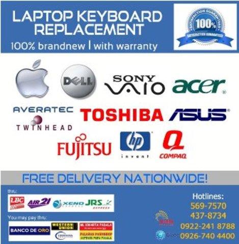 Laptop Keyboard Replacement - Ebase Philippines