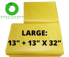 "Large Biodegradable Yellow Trash Bag (13"" + 13"" x 32"")"