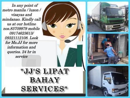 JJ'S LIPAT BAHAY TRUCKING SERVICES