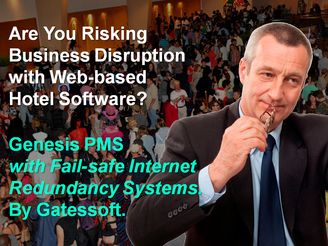 DO YOU RISK BUSINESS DISRUPTION WITH ONLINE HOTEL SOFTWARE? HOTEL PMS PHILIPPINES