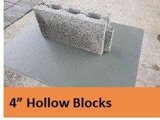 4 Inch Hollow Block