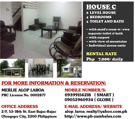 Subic Bay Freeport Zone House For Rent - House C