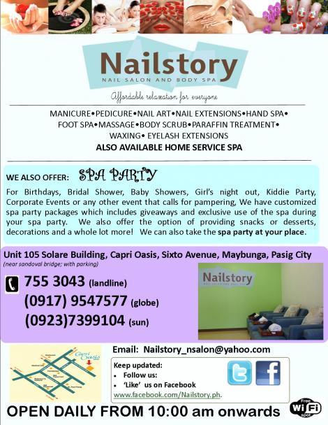 Nailstory, nail salon and body spa