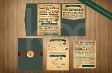 Pocket-fold Wedding Invitation