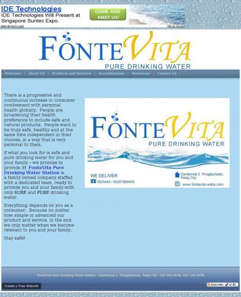 FonteVita Pure Drinking Water Station
