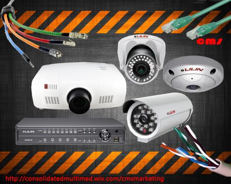 cctv camera, projector,smart cabling,LCD projection