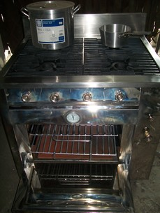 Four ( 4)  Burner with Oven