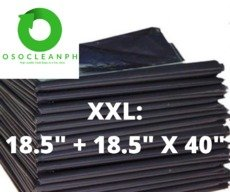 "XXL Biodegradable Black Trash Bag (18.5"" + 18.5"" x 40"")"