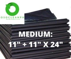 "Medium Biodegradable Black Trash Bag (11"" + 11"" x 24"")"