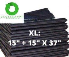"XL Biodegradable Black Trash Bag (15"" + 15"" x 37"")"
