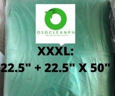 "XXXL Biodegradable Green Trash Bag (22.5"" + 22.5"" x 45"")"