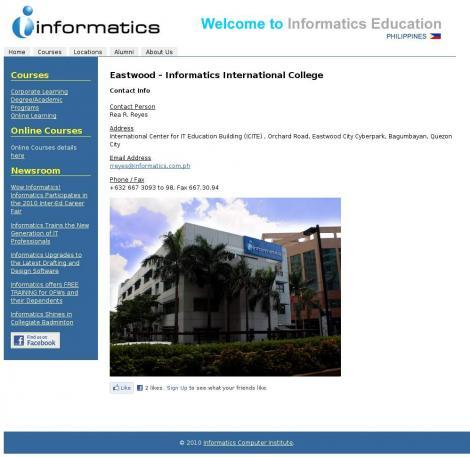 Informatics College Eastwood