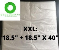 "XXL Biodegradable Clear Trash Bag (18.5"" + 18.5"" x 40"")"