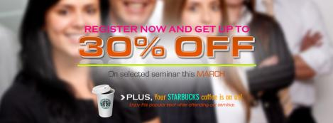 Get your DISCOUNT COUPON plus a STARBUCKS TREAT from us