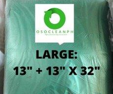 "Large Biodegradable Green Trash Bag (13"" + 13"" x 32"")"