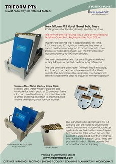 TRIFORM PT5 Guest Folio Tray for Hotels & Motels