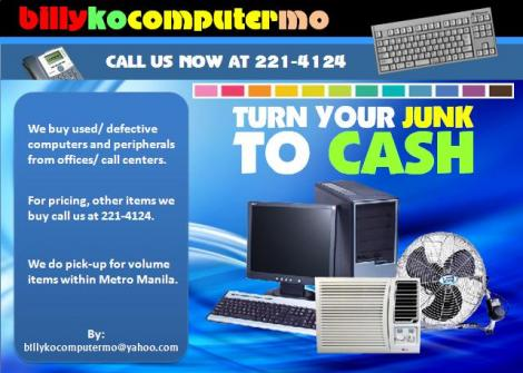 Buying Scrap/ Deffective/ Used Pc (from Offices & Call Centers)