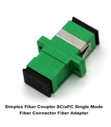 Simplex Fiber Coupler SC/aPC Single Mode Fiber Connector Fiber Adapter