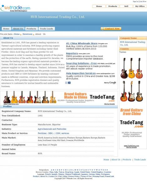 RVR International Trading Co., Ltd.