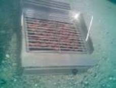 Griller with Lava Rock