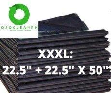 "XXXL Biodegradable Black Trash Bag (22.5"" + 22.5"" x 45"")"