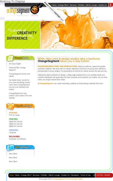 Orange Segment Print And Design Studio