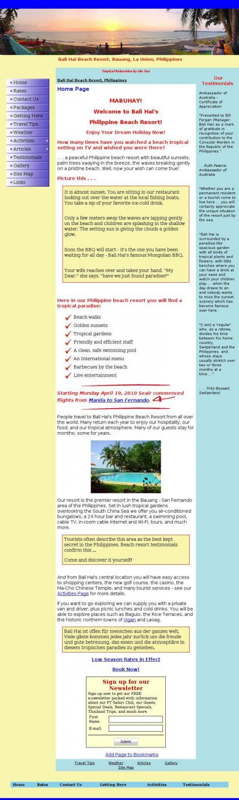 Bali Hai Beach Resort