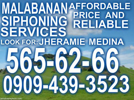 RJ MALABANAN SIPHONING & PLUMBING SERVICES 565-62-66  /  0909-439-3523